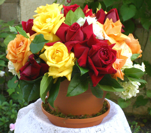 Rose flower pot centerpiece tea party ideas recipes